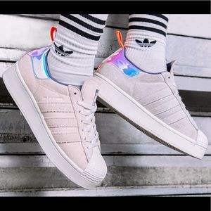 NWT Adidas Superstar Plateau Women's Shoes
